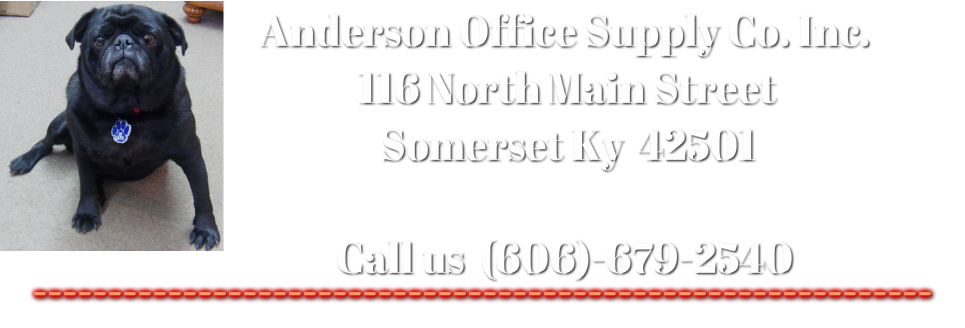 Welcome to Anderson Office Supply Co. Inc.
